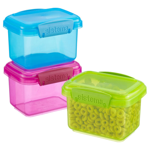 Sistema 13.5 oz. Colorful Klip-It Snack Pack Boxes