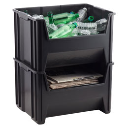Black Stackable Recycle Bin