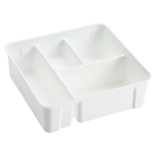 Colorwave Smart Store 4-Compartment Tray White