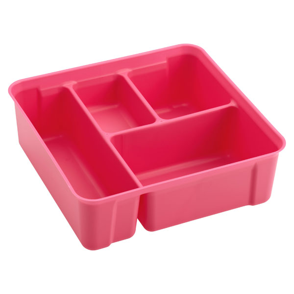 Colorwave Smart Store 4-Compartment Tray Pink