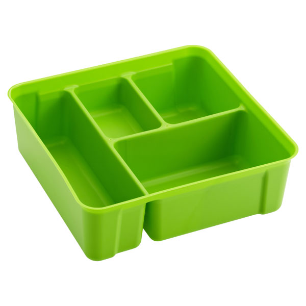 Colorwave Smart Store 4-Compartment Tray Green