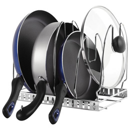 Iris Chrome Cookware Organizer