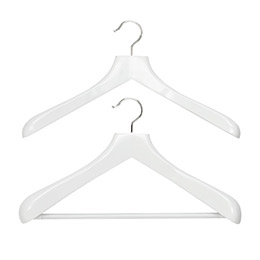 Superior White Wooden Coat & Suit Hangers