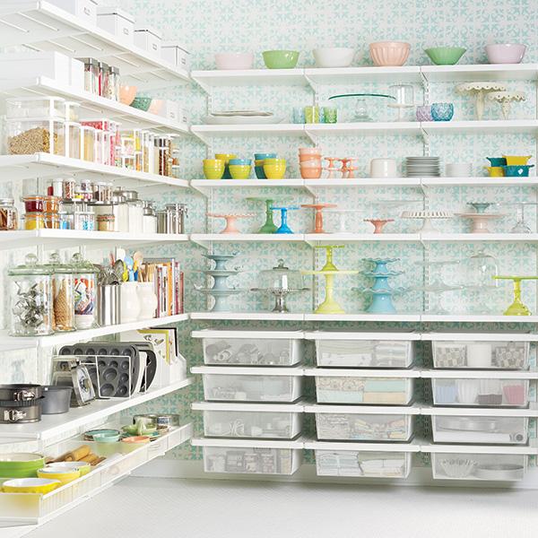 White Pantry Shelves ...
