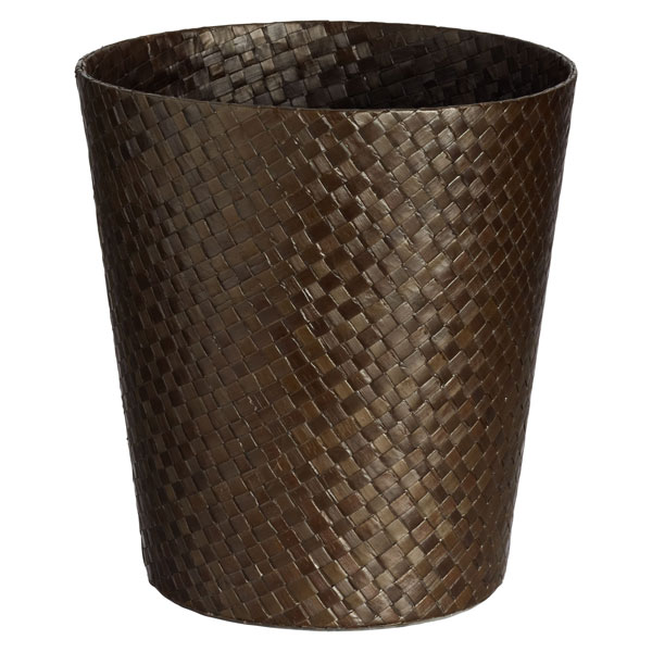 Java Round Pandan Trash Can