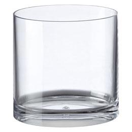 Clear Acrylic Oval Trash Can