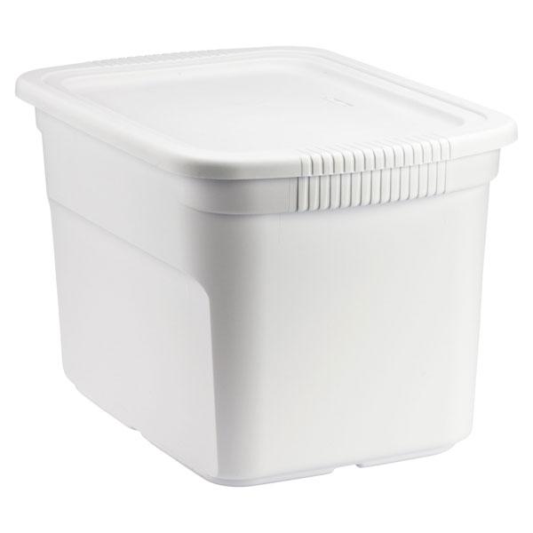 18 gal. Tote Box White