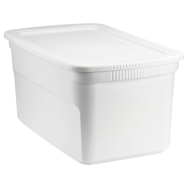 30 gal. Tote Box White
