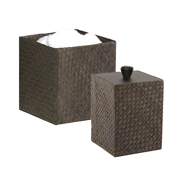 Woven Bathroom Canisters