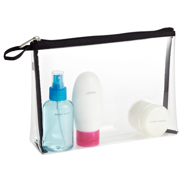 Clear Quart-Sized Zippered Pouch