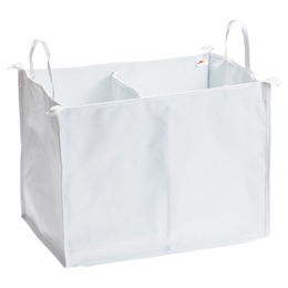 White elfa Divided Hamper & Cover