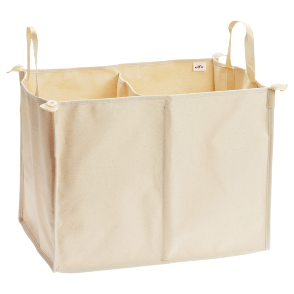 elfa Divided Hamper Natural