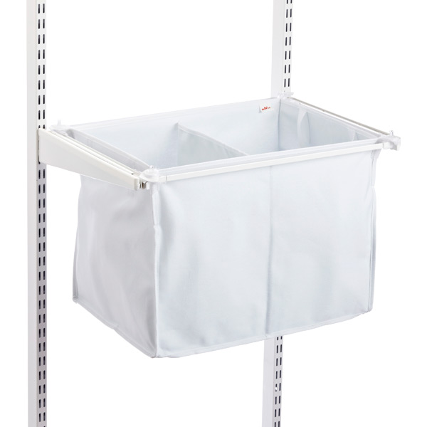 White elfa Divided Hamper
