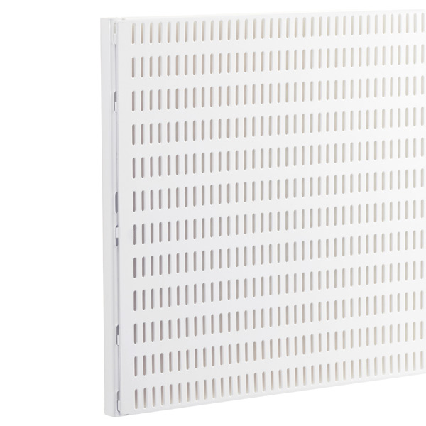 White Elfa Utility Pegboard Wall Mounts