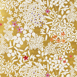 Gold Floral Lace Wrapping Paper