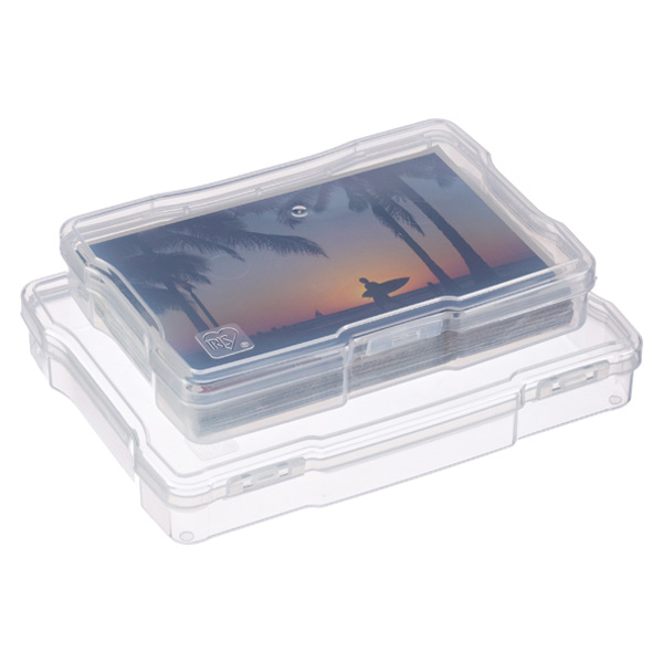 Clear Photo Cases with Hinged Lids