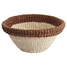 Small Round Woven Tahiti Storage Bowl