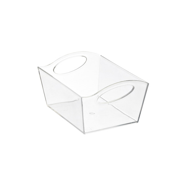 Small Wave Storage Basket Clear