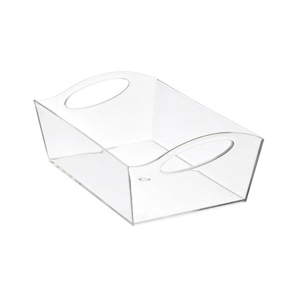 Medium Wave Storage Basket Clear