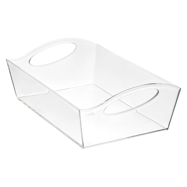 Large Wave Storage Basket Clear