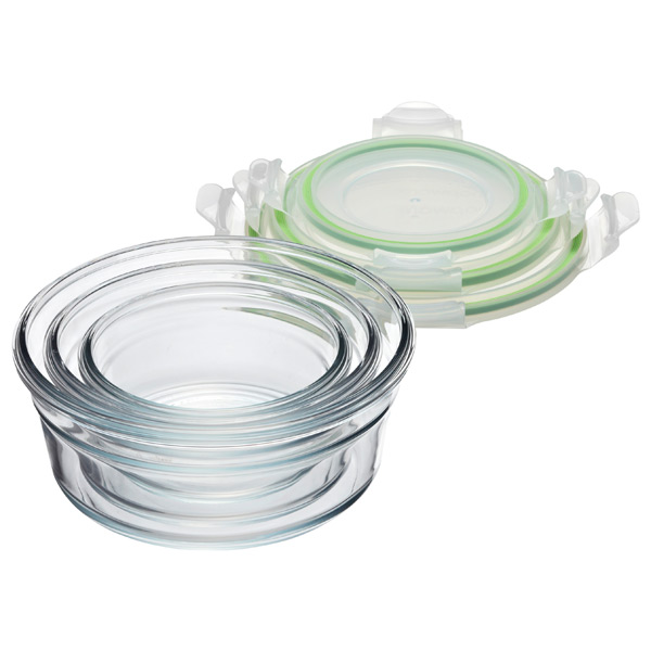 Glasslock Round Food Containers With Lids The Container