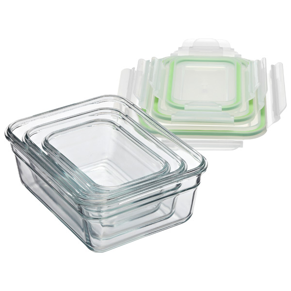 Gllock Rectangular Food Containers With Lids