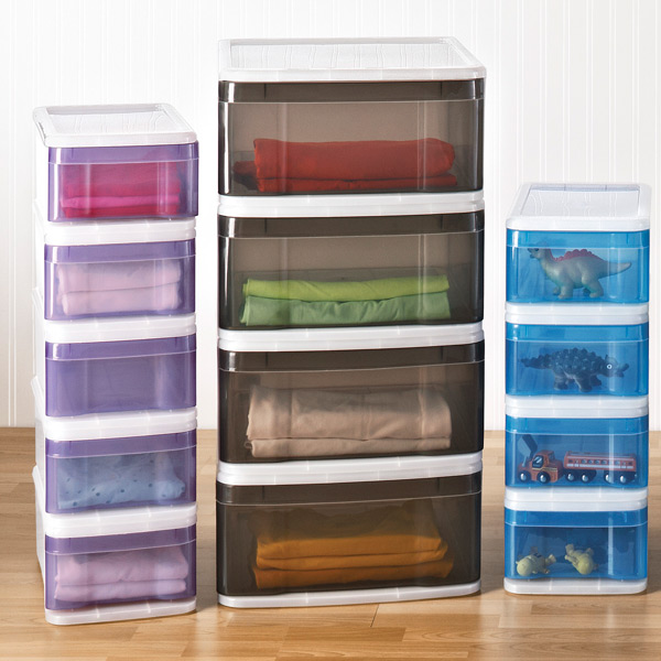 small tint stackable drawer the container store. Black Bedroom Furniture Sets. Home Design Ideas