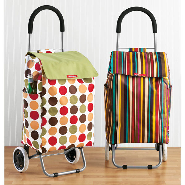 Striped Shopping Cart   The Container Store