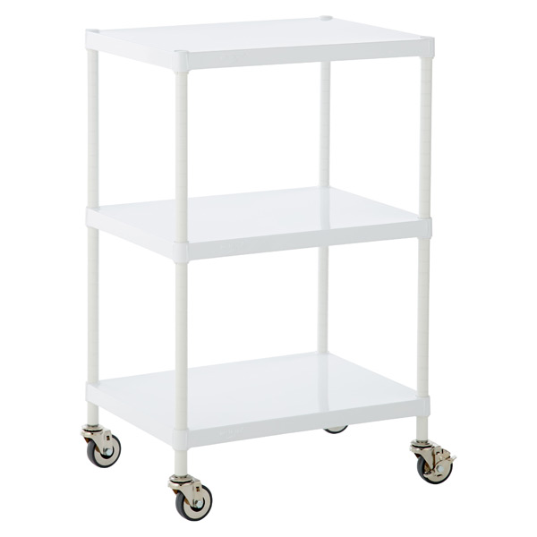 Solid Shelf Serving Cart White