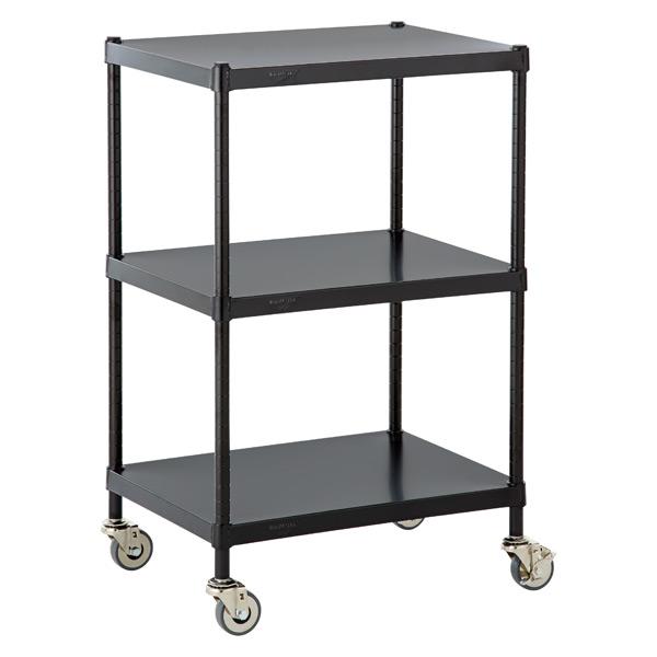 InterMetro Solid Shelf Serving Cart Black