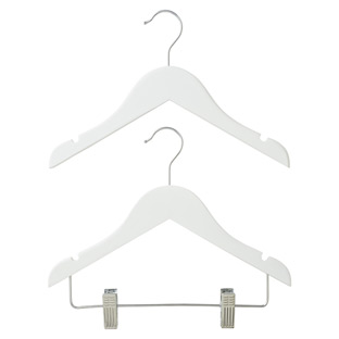 Children's White Wooden Hangers Pkg/3