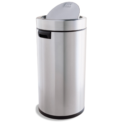 Simplehuman Stainless Steel 14 5 Gal Swing Lid Trash Can