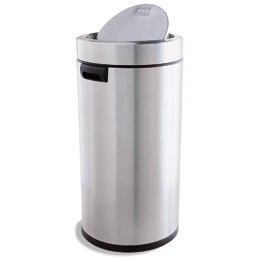 simplehuman Stainless Steel 14.5 gal. Swing-Lid Trash Can
