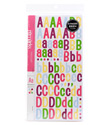 Multi Color Patchwork Alphabet Stickers
