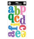 Multi Color Jumbo Lowercase Alphabet Stickers