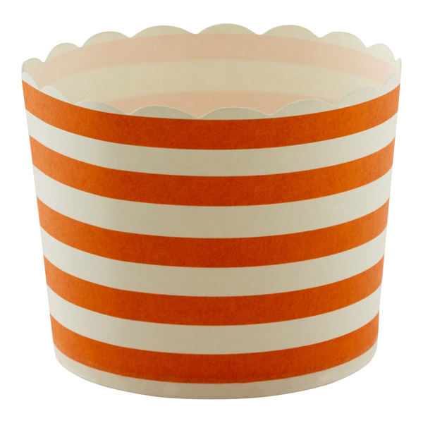 Large Baking Cups Stripe Orange Pkg/20