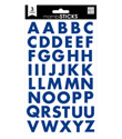 Navy Block Alphabet Stickers