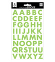 Green Block Alphabet Stickers