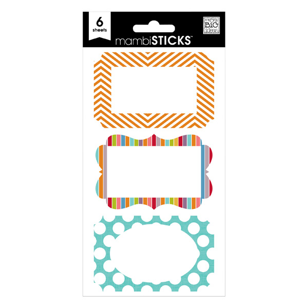 Stripes & Dots Labels Bright Multi Pkg/18