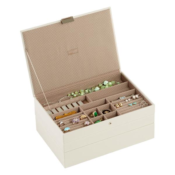 Elegant Vanilla Supersize Stackers Premium Stackable Jewelry Box