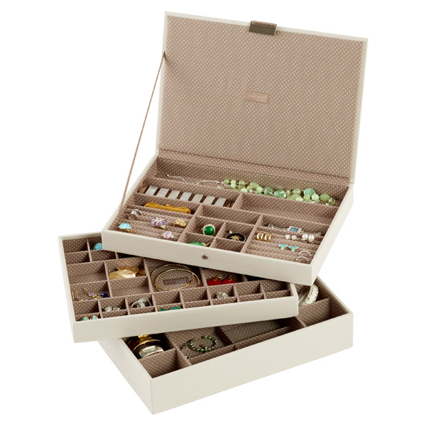 Beautiful Vanilla Supersize Stackers Premium Jewelry Storage
