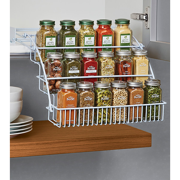 Pull Out Spice Rack - Rubbermaid Pull-Down Spice Rack ...