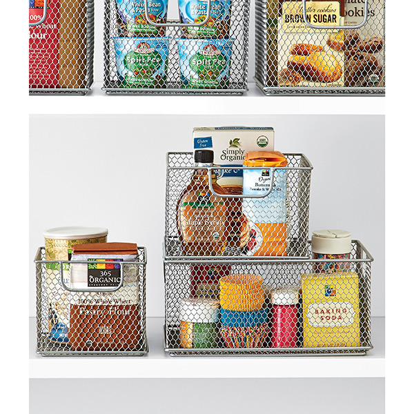 Omaha Steel Mesh Stackable Bins The Container Store