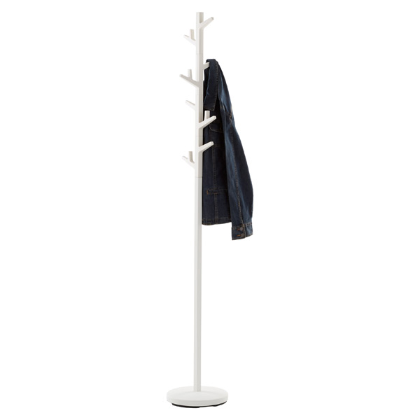 Yamazaki White Adjustable Branch Coat Rack