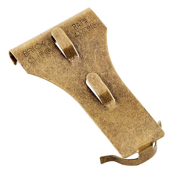 Brick Clip Standard Size Brass Pkg/2