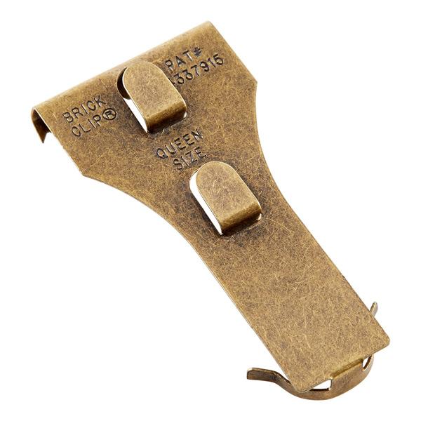 Brick Clip Queen Size Brass Pkg/2