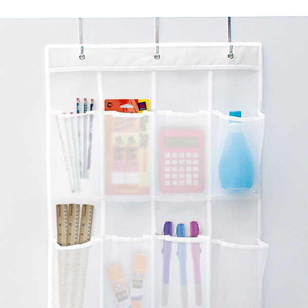 24 pocket mesh over the door shoe bag the container store. Black Bedroom Furniture Sets. Home Design Ideas