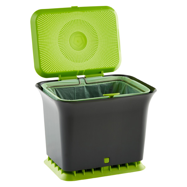 Full Circle Odor-Free Compost Collector Slate
