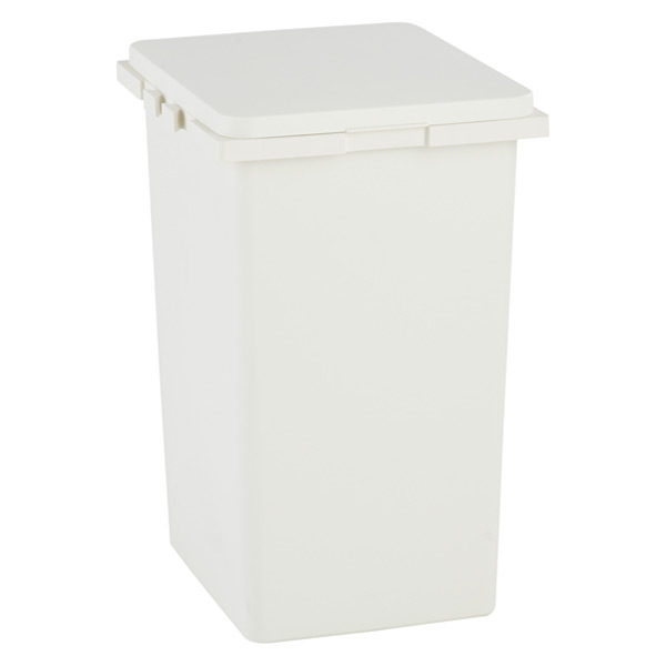 12 gal. Connectable Trash Can White