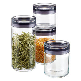 Grigio Glass Canisters by Guzzini